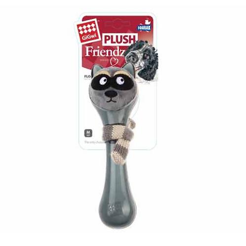 Grey Plush Friendz TPR + Knitting Scarf