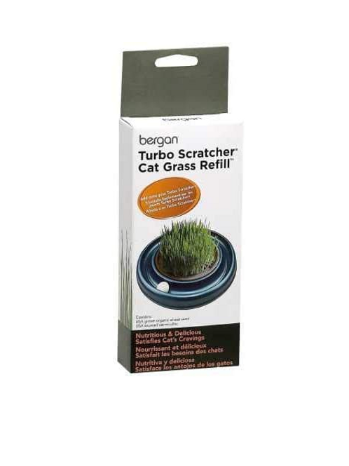 Turbo Scratcher and Star Chaser Cat Grass Refill