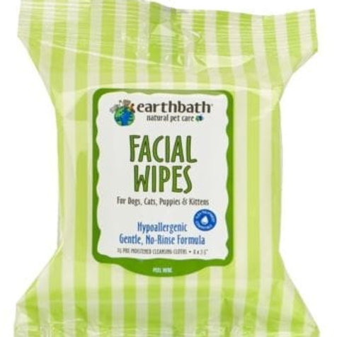 EARTHBATH Hypoallergenic Facial Wipes - Fragrance Free 25pcs