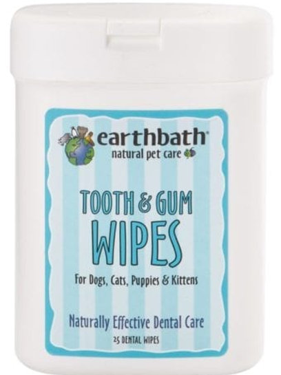 EARTHBATH - Tooth & Gum Wipes with Peppermint