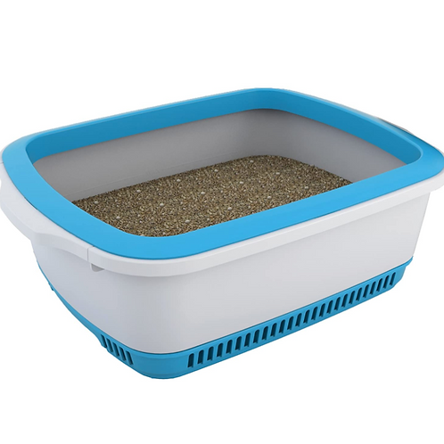 Cateco Self Drying Litter Box ( Blue & Orange )