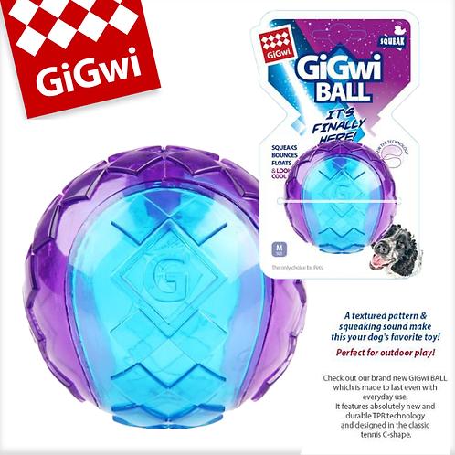 Gigwi Ball Purple /Blue Squeaker Transparent (Medium)