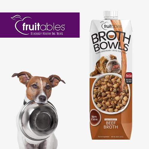 Fruitables Broth Bowls Beef Dog 1L