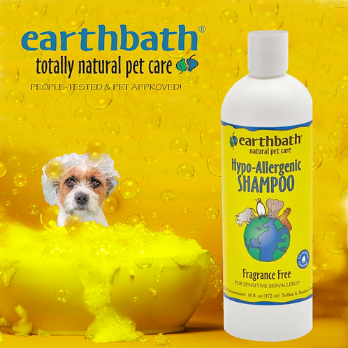 EARTHBATH Hypoallergenic Shampoo -  Fragrance Free 16oz