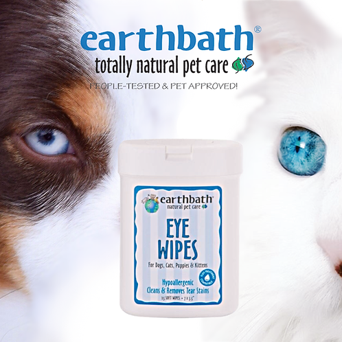 EARTHBATH - Eye Wipes Hypoallergenic Fragrance Free - 25pcs