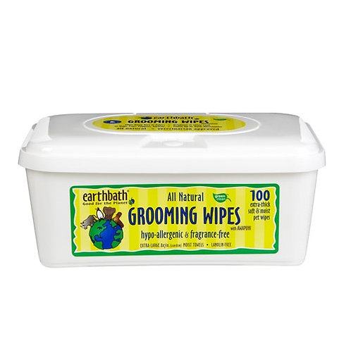 EARTHBATH Cat Grooming Wipes - Hypoallergenic Fragrance Free