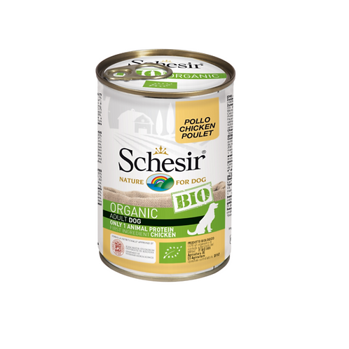 Schesir Bio Dog Can 400grams Adult Chicken