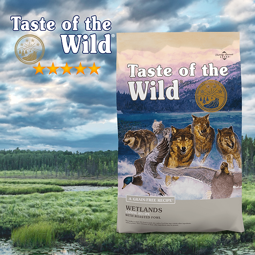 Taste of the Wild Wetlands Canine Formula ( 2 Sizes Available )