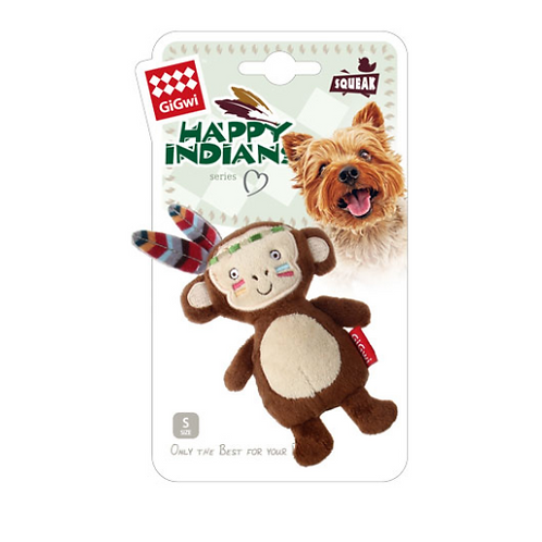 """Happy Indian """"Melody Chaser"""" Monkey w/ motion activated sound chip"""