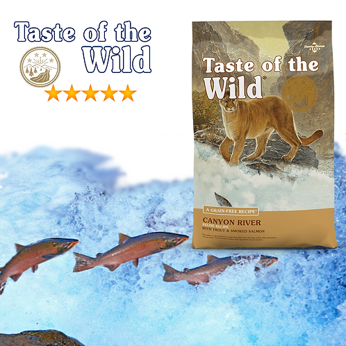 Taste of the Wild Canyon River Feline Formula ( 2 sizes Available)