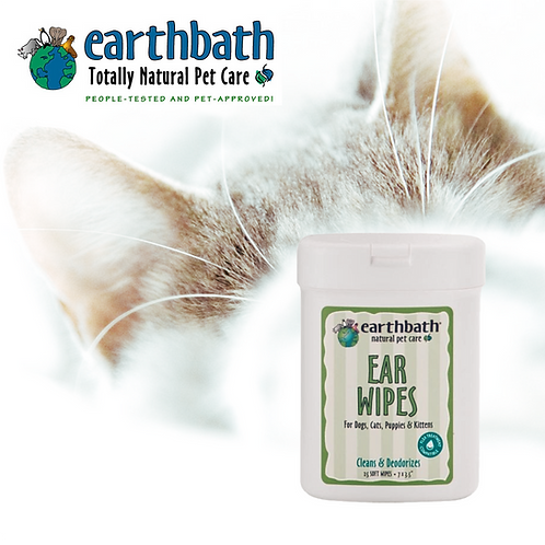 EARTHBATH Ear Wipes Fragrance Free 25pcs