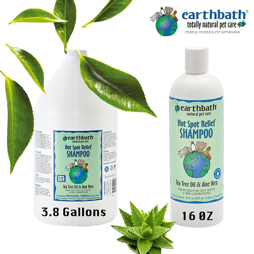 EARTHBATH - Tea Tree Oil & Aloe Vera Shampoo Green Tea Scent 16oz