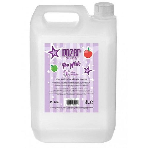 Pozer Too White Shampoo 4 Litre