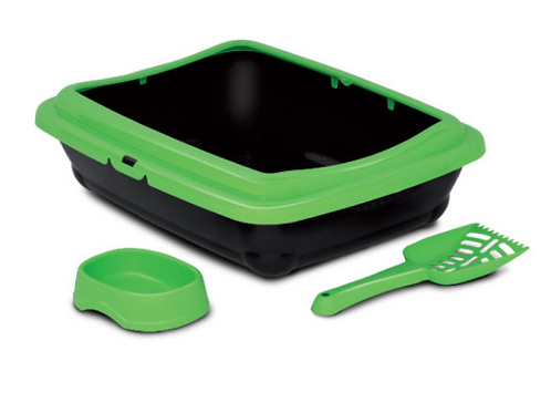 Bergamo - BIRBA KIT (Litter box+scoop+bowl)