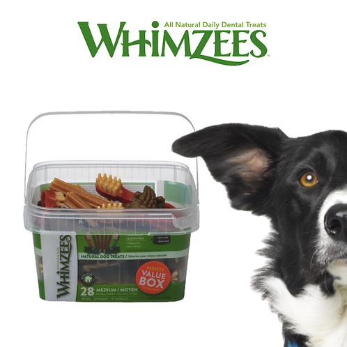 Whimzees Variety Value Box 28 Medium/Grade