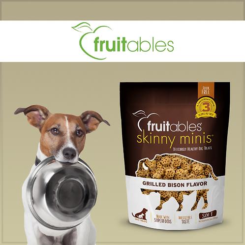 Fruitables Skinny Minis Dog Treats Grilled Bison 141g