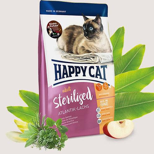 HAPPY CAT ADULTS Sterilised Atlantic Laches - 300g,1.4kg & 10kg bags