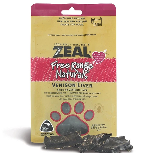 Zeal Dried Venison Liver 125g