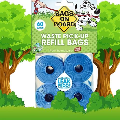 BOB Refill Bags - Blue 60 bags (4x15)