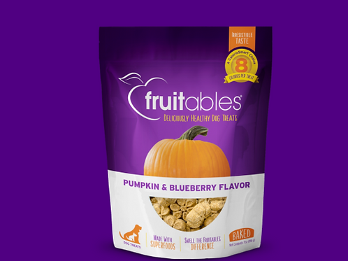 Fruitables Dog Treats Pumpkin & Blueberry 198gr