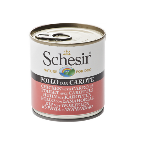 Schesir Dog Can - Chicken with Carrot 285 grams