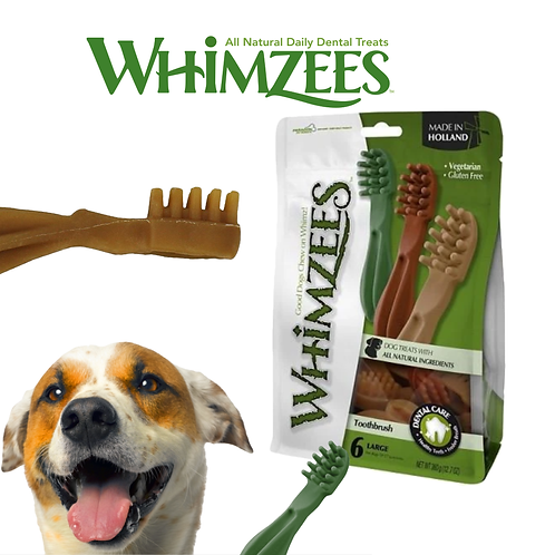 Whimzees - Tooth Brush Star Mix L 1 pc & 6 pcs