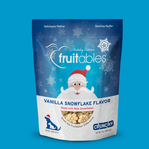 Fruitables Vanilla Snowflake Dog Treats 198g