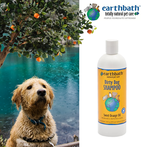 EARTHBATH - Orange Peel Oil D'Limonene Shampoo Orange Scent 16oz