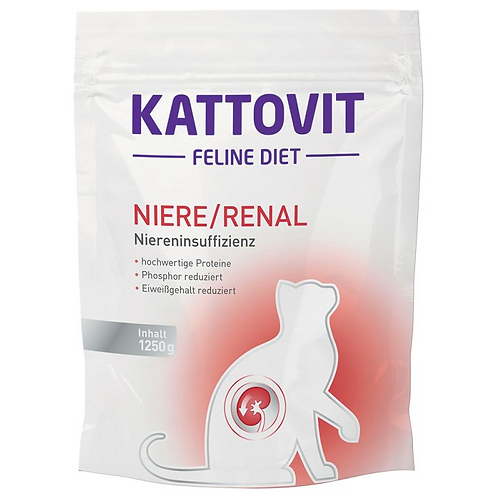 Kattovet Feline Diet Renal Fish (Low Protein) Dry Food 1250g