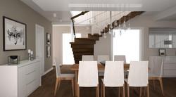 schody w jadalni