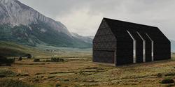 czarna elewacja domu