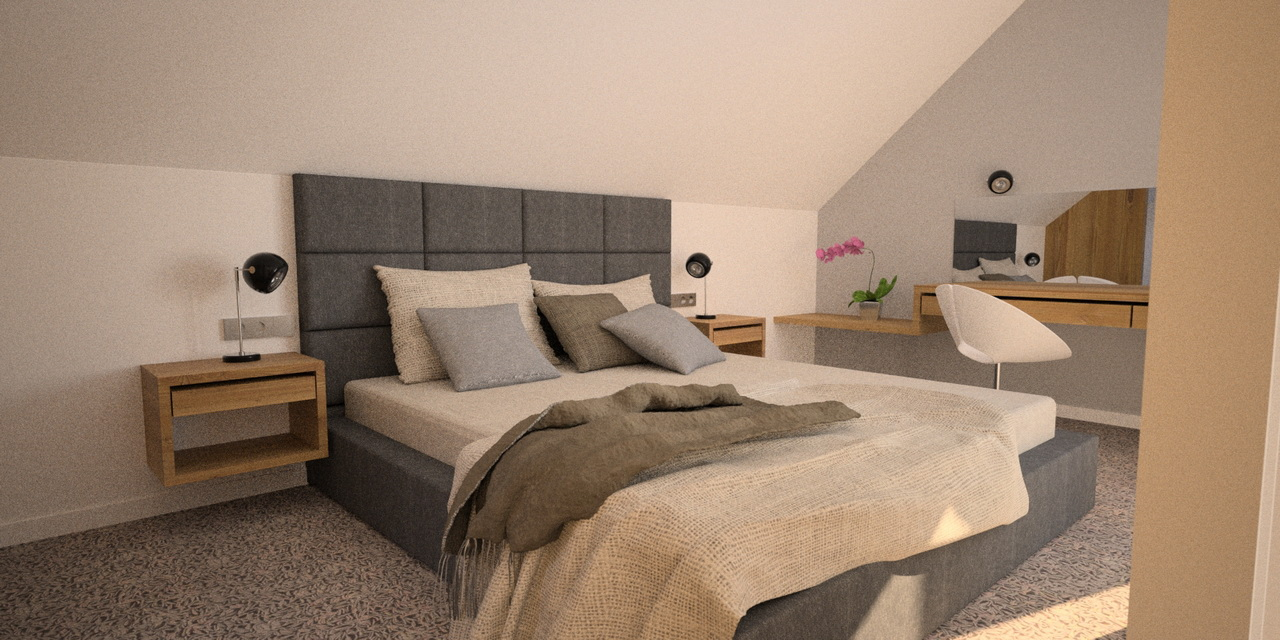 sypialnia pikowane wezgłowie
