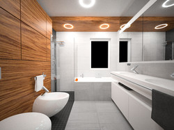 drewno w łazience