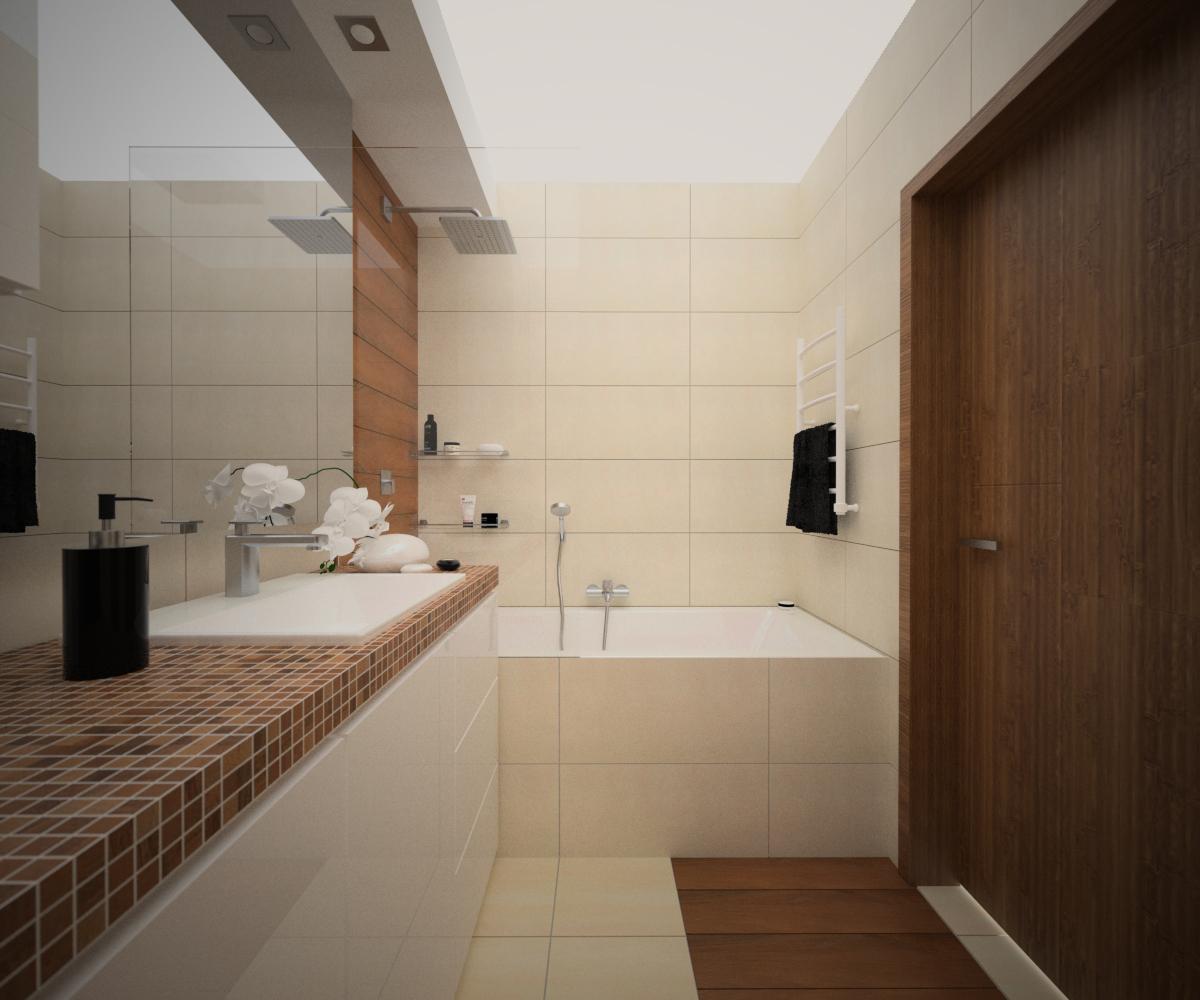 kremowe płytki w łazience