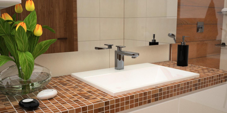 łazienka blat mozaika
