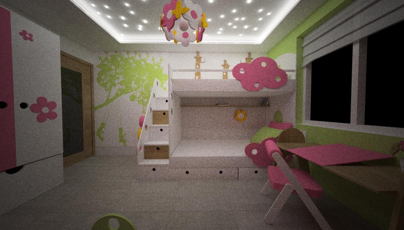 pokój dla dziewczynki gwiazdy