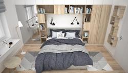 miejsce na książki w sypialni