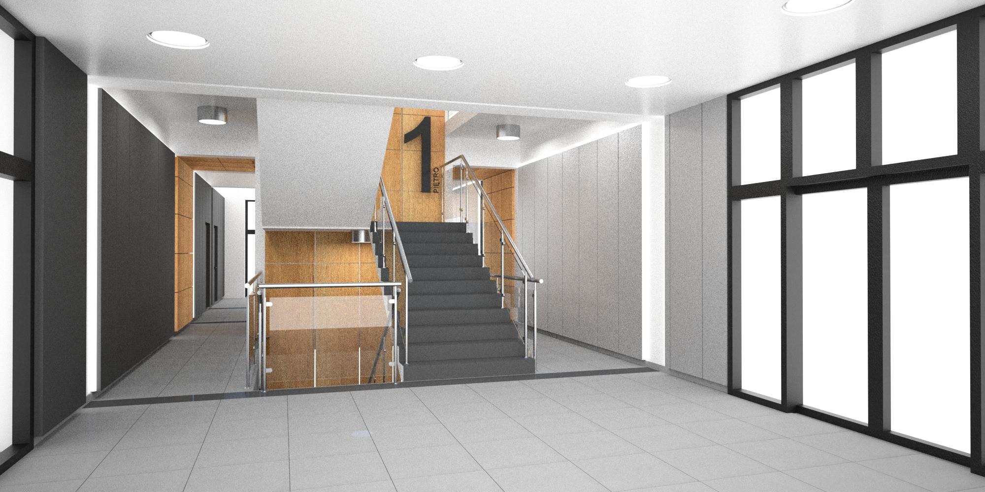 projekt klatki schodowej i holu