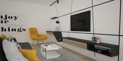 zabudowa ściany z tv