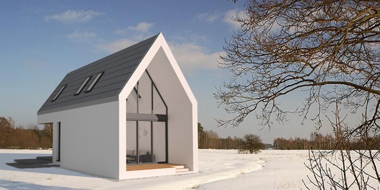 minimalistyczny projekt domu