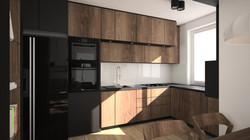 drewniana zabudowa kuchni