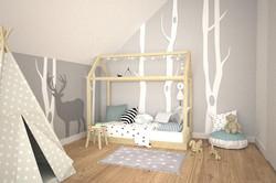 szaro biały pokój dla dziecka