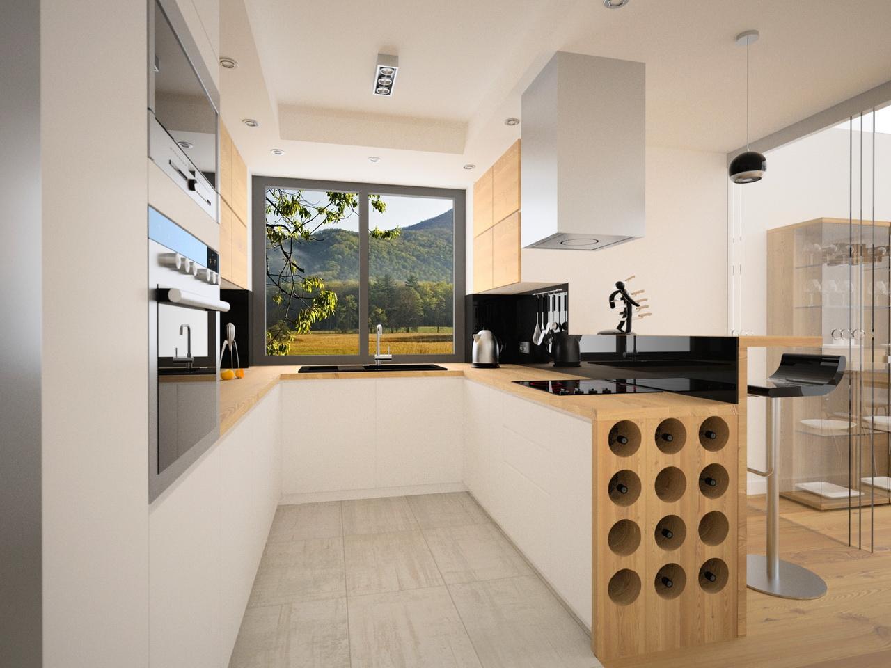 półki na wino w kuchni