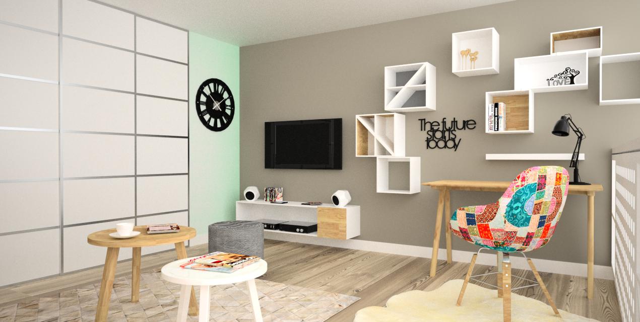 projekt pokoju gościnnego