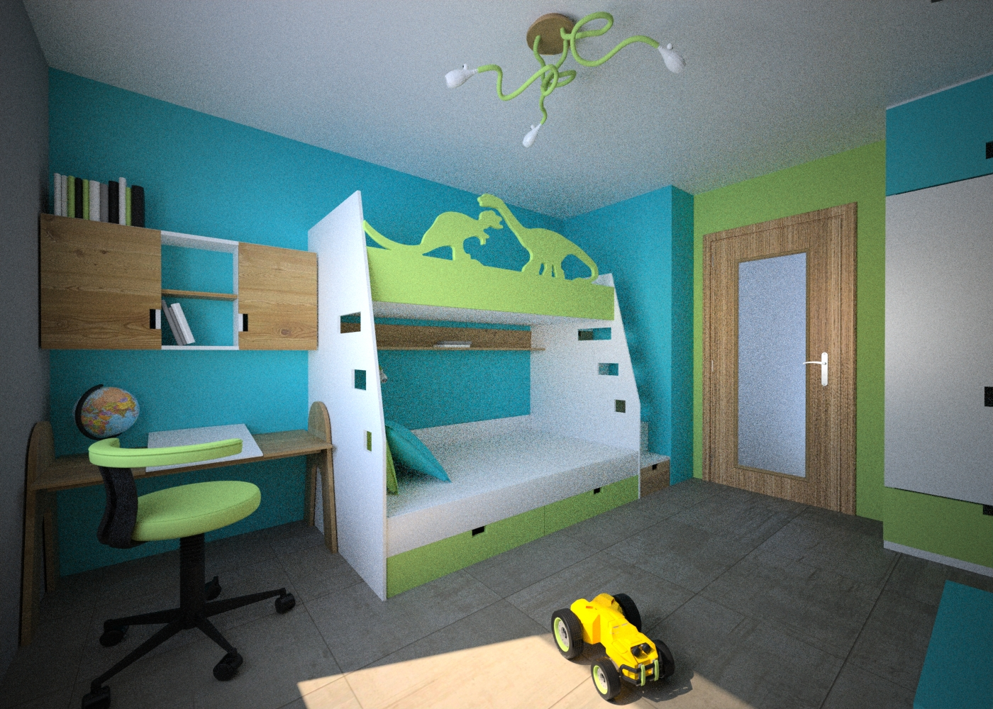 łóżko piętrowe dla chłopca