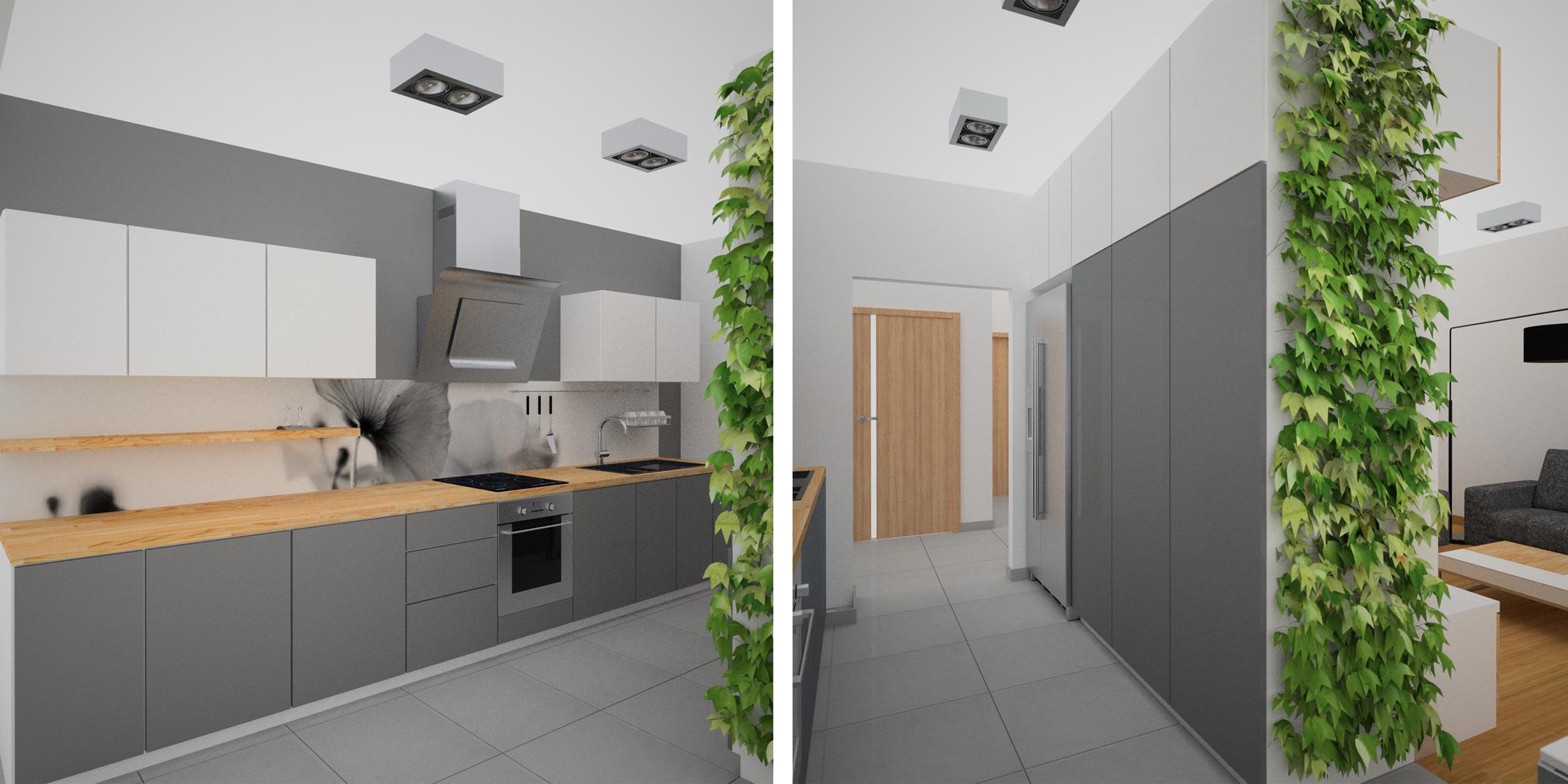 zielona ściana w kuchni