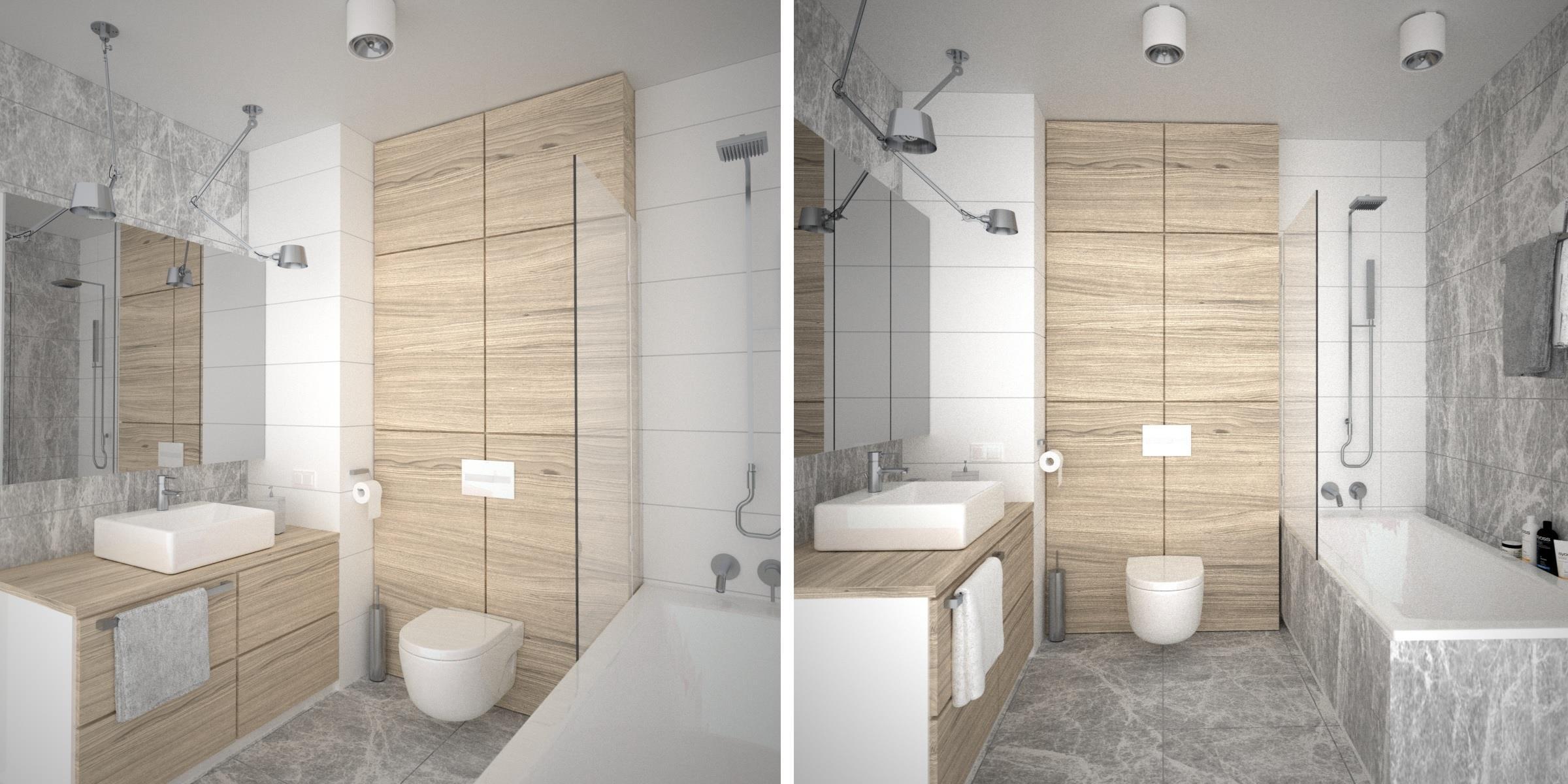 łazienka skandynawska