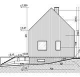 prosta bryła bez okapów, drewniana elewacja, projekt domu jendorodzinnego, projekty Czeladź