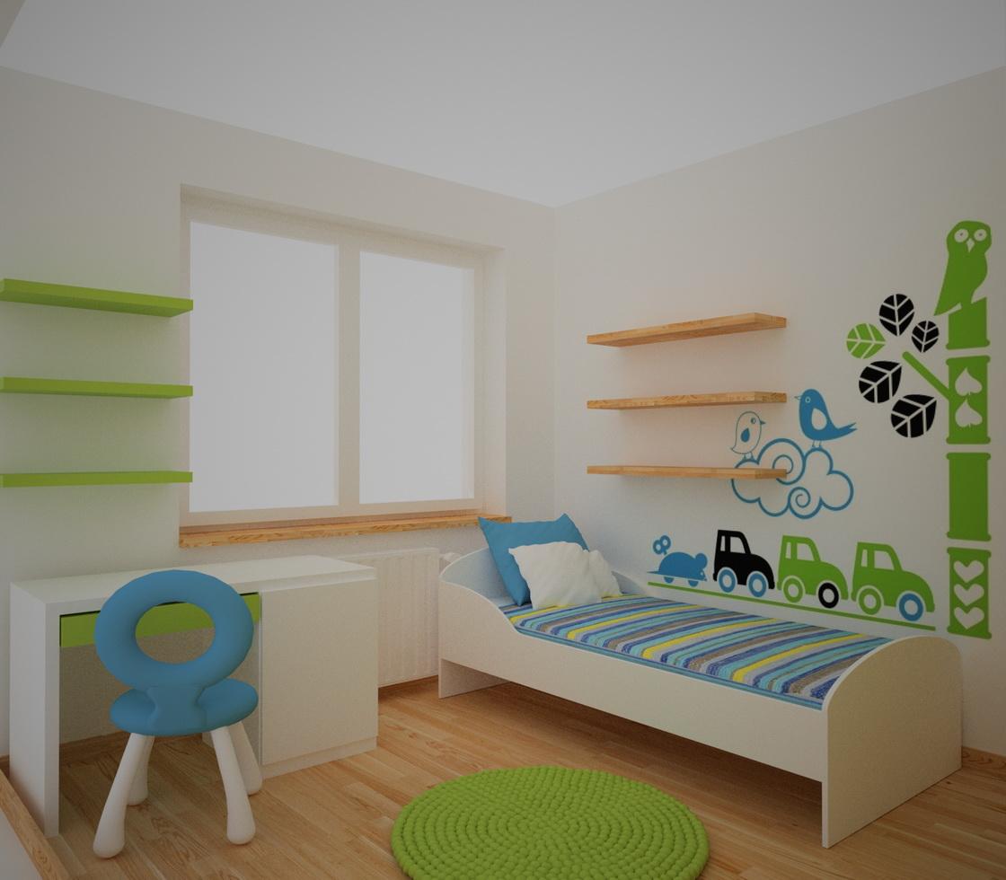 zieleń w pokoju dziecinnym