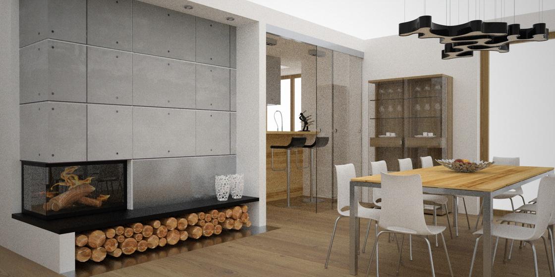 płyty betonowe na ścianie
